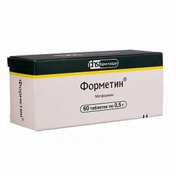 Форметин, 500 мг, таблетки, 60шт.