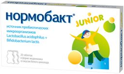 Нормобакт Junior, таблетки, 20 шт.
