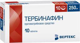 Тербинафин, 250 мг, таблетки, 10 шт.