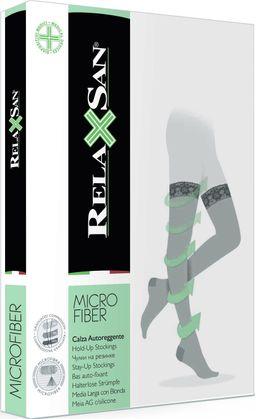 Relaxsan Stay-up Micro Чулки компрессионные с микрофиброй 1 класс компрессии, р. 3, арт. 870М (18-22 mm Hg), 140 DEN (черного цвета, на резинке), пара, 1шт.