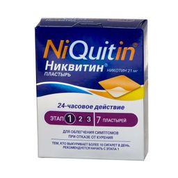 Никвитин, 21 мг/сут, трансдермальная терапевтическая система, 7 шт.