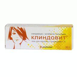 Клиндовит, 1%, гель для наружного применения, 30 г, 1шт.