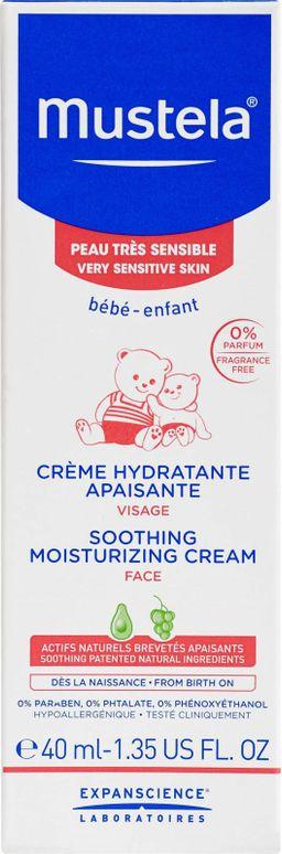 Mustela Hydra-Bebe Увлажняющий успокаивающий крем для лица, крем для лица, 40 мл, 1 шт.