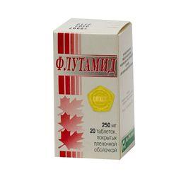Флутамид, 250 мг, таблетки, покрытые пленочной оболочкой, 20шт.