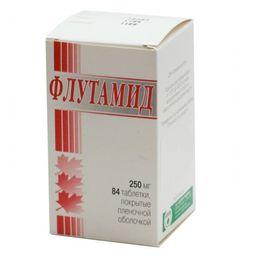 Флутамид, 250 мг, таблетки, покрытые пленочной оболочкой, 84шт.