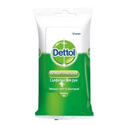 Dettol Салфетки влажные антибактериальные, салфетки, 10 шт.