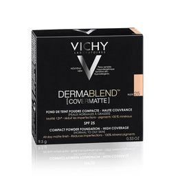 Vichy Dermablend Covermatte пудра компактная SPF25, пудра, тон 25, 9,5 мл, 1 шт.