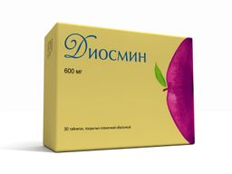 Диосмин, 600 мг, таблетки, покрытые пленочной оболочкой, 30шт.