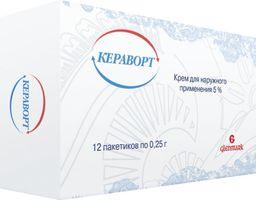 Кераворт, 5%, крем для наружного применения, 0.25 г, 12 шт.