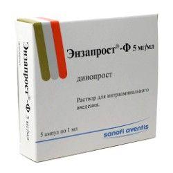 Энзапрост-Ф, 5 мг/мл, раствор для интраамниального введения, 1 мл, 5 шт.