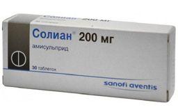 Солиан, 200 мг, таблетки, 30 шт.