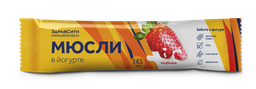 Здравсити Батончик мюсли клубничный в йогуртной глазури, 30 г, 1 шт.