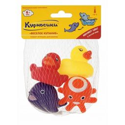Курносики Набор игрушек для ванны Веселое купание, 4 шт.