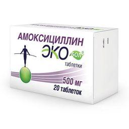 Экобол, 500 мг, таблетки, 20шт.