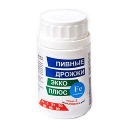 Пивные дрожжи Экко Плюс с железом, 0.45 г, таблетки, 100 шт.