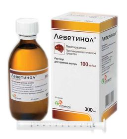 Леветинол, 100 мг/мл, раствор для приема внутрь, 300 мл, 1 шт.