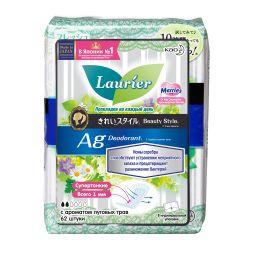 Laurier Beauty Style Fresh Прокладки на каждый день с ионами серебра, ароматизированные, 62 шт.