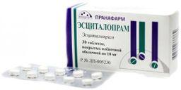 Эсциталопрам, 10 мг, таблетки, покрытые пленочной оболочкой, 30 шт.