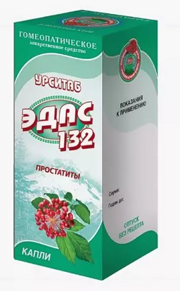 Эдас-132 Урситаб, капли для приема внутрь гомеопатические, 25 мл, 1 шт.