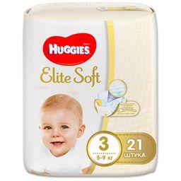 Huggies Elite Soft Подгузники детские одноразовые, р. 3, 5-9 кг, 21шт.