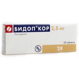 Бидоп Кор, 2.5 мг, таблетки, 28шт.
