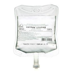 Натрия хлорид, 0.9%, раствор для инфузий, 250 мл, 1шт.