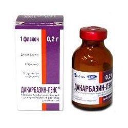 Дакарбазин-ЛЭНС, 200 мг, лиофилизат для приготовления раствора для внутривенного введения, 1шт.