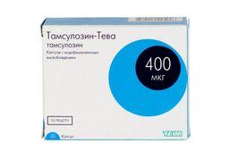 Тамсулозин-Тева, 0.4 мг, капсулы с модифицированным высвобождением, 30шт.