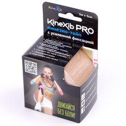 Kinexib Pro Бинт кинезио-тейп с усиленной фиксацией, 5х500, бежевый, 1 шт.