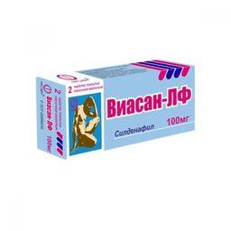 Виасан-ЛФ, 100 мг, таблетки, покрытые пленочной оболочкой, 2 шт.
