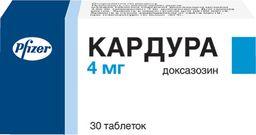 Кардура, 4 мг, таблетки, 30 шт.