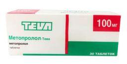 Метопролол-Тева, 100 мг, таблетки, 30шт.