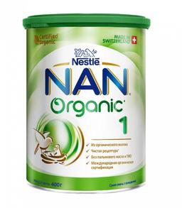 NAN 1 Organic, для детей с рождения, смесь молочная сухая, с органическим молоком, 400 г, 1шт.