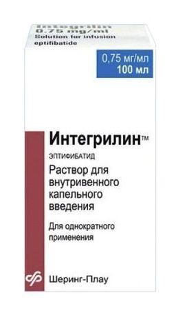 Интегрилин, 0.75 мг/мл, раствор для внутривенного введения, 100 мл, 1 шт.