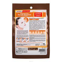 Japan Gals Pure5 Essential Питательная маска с коллагеном, маска для лица, 1 шт.