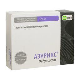 Азурикс, 120 мг, таблетки, покрытые пленочной оболочкой, 30 шт.