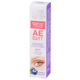 Librederm Аевит крем для кожи вокруг глаз, крем для контура глаз, 20 мл, 1шт.