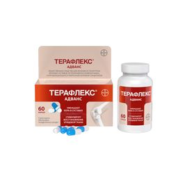 Терафлекс Адванс, 250 мг+100 мг+200 мг, капсулы, 60шт.