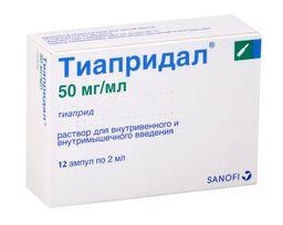 Тиапридал, 50 мг/мл, раствор для внутривенного и внутримышечного введения, 2 мл, 12шт.