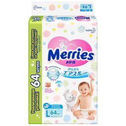 Подгузники детские Merries, 9-14 кг, размер L , 64 шт.