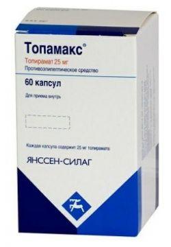 Топамакс, 25 мг, капсулы, 60 шт.