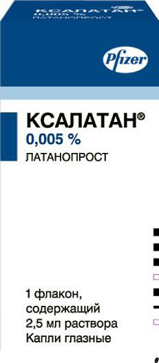 Ксалатан, 0.005%, капли глазные, 2.5 мл, 1 шт.