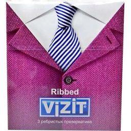 Презервативы Vizit Classic Ribbed, презерватив, ребристые, 3 шт.