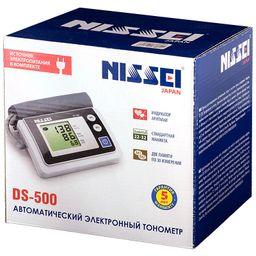 Тонометр автоматический Nissei DS-500, с адаптером и стандартной манжетой (22-32 см), 1шт.