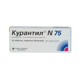 Курантил N 75, 75 мг, таблетки, покрытые пленочной оболочкой, 40 шт.