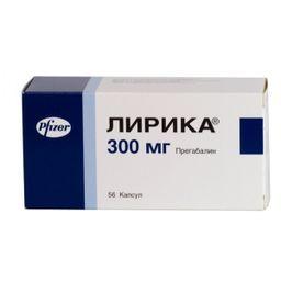 Лирика, 300 мг, капсулы, 56 шт.