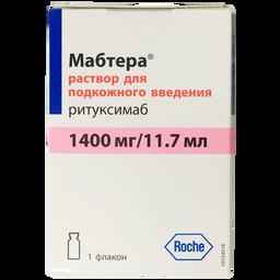 Мабтера, 1400 мг/11.7 мл, раствор для подкожного введения, 1 шт.