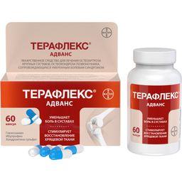 Терафлекс Адванс, 250 мг+100 мг+200 мг, капсулы, 60 шт.