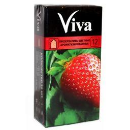 Презерватив Viva, презерватив, цветные, ароматизированные, 12шт.