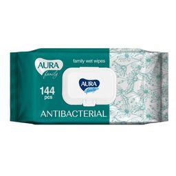 Aura Family салфетки влажные антибактериальные для всей семьи
